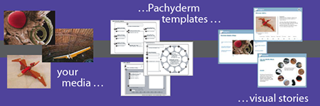 your media, pachyderm templates, visual stories